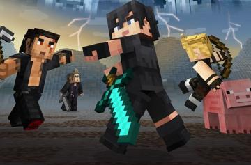 Minecraft - Стал доступен Final Fantasy XV Skin pack