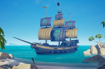 Sea of Thieves - Новый патч добавил легендарный облик для корабля