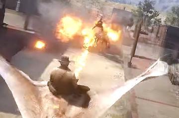 В Red Dead Redemption 2 нашли гигантскую огнедышащую летучую мышь и оседлали ее